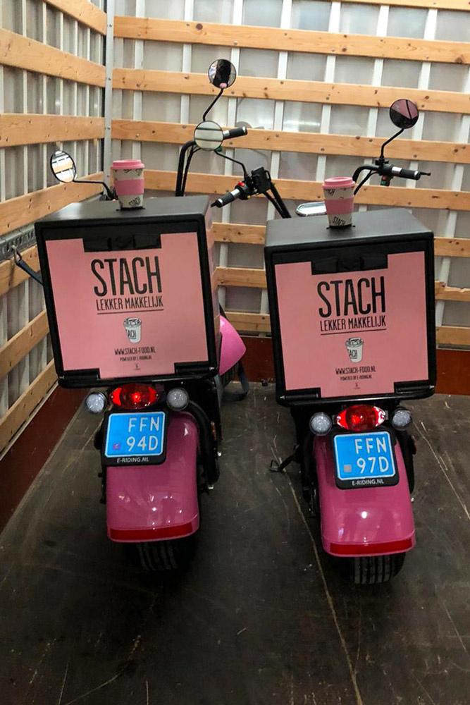 Elektrische bezorgscooters STACH - Maatwerk E-Scooters