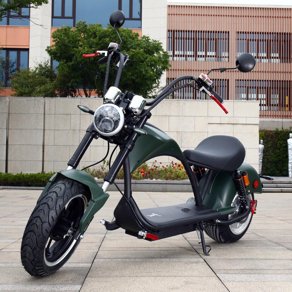 Chopper Elektrische Scooter - Mat groen