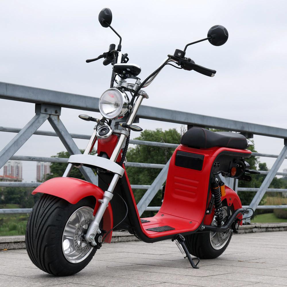 Retro Elektrische Scooter - Mat rood