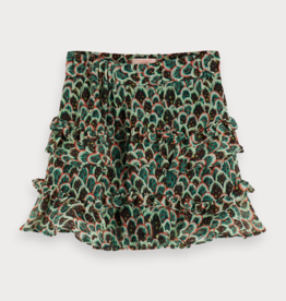 Scotch & Soda R'BELLE Chiffon rok met print