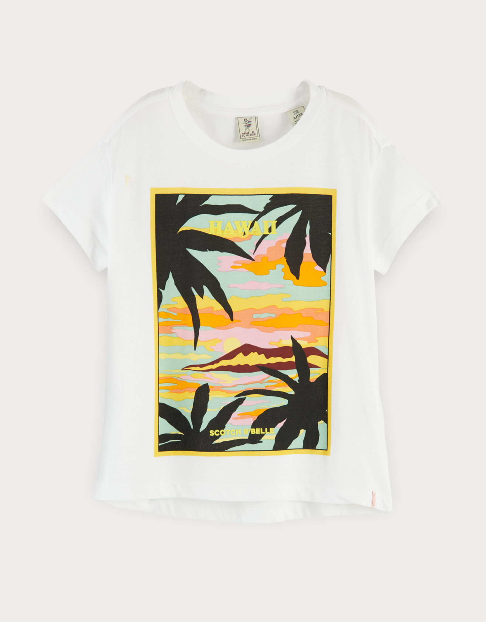 Scotch & Soda R'BELLE Scotch & Soda T-shirt met Hawaïaanse print