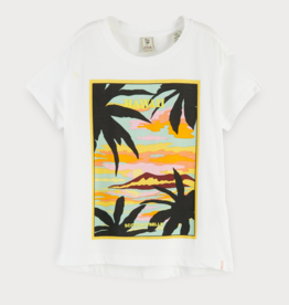Scotch & Soda R'BELLE T-shirt met Hawaïaanse print