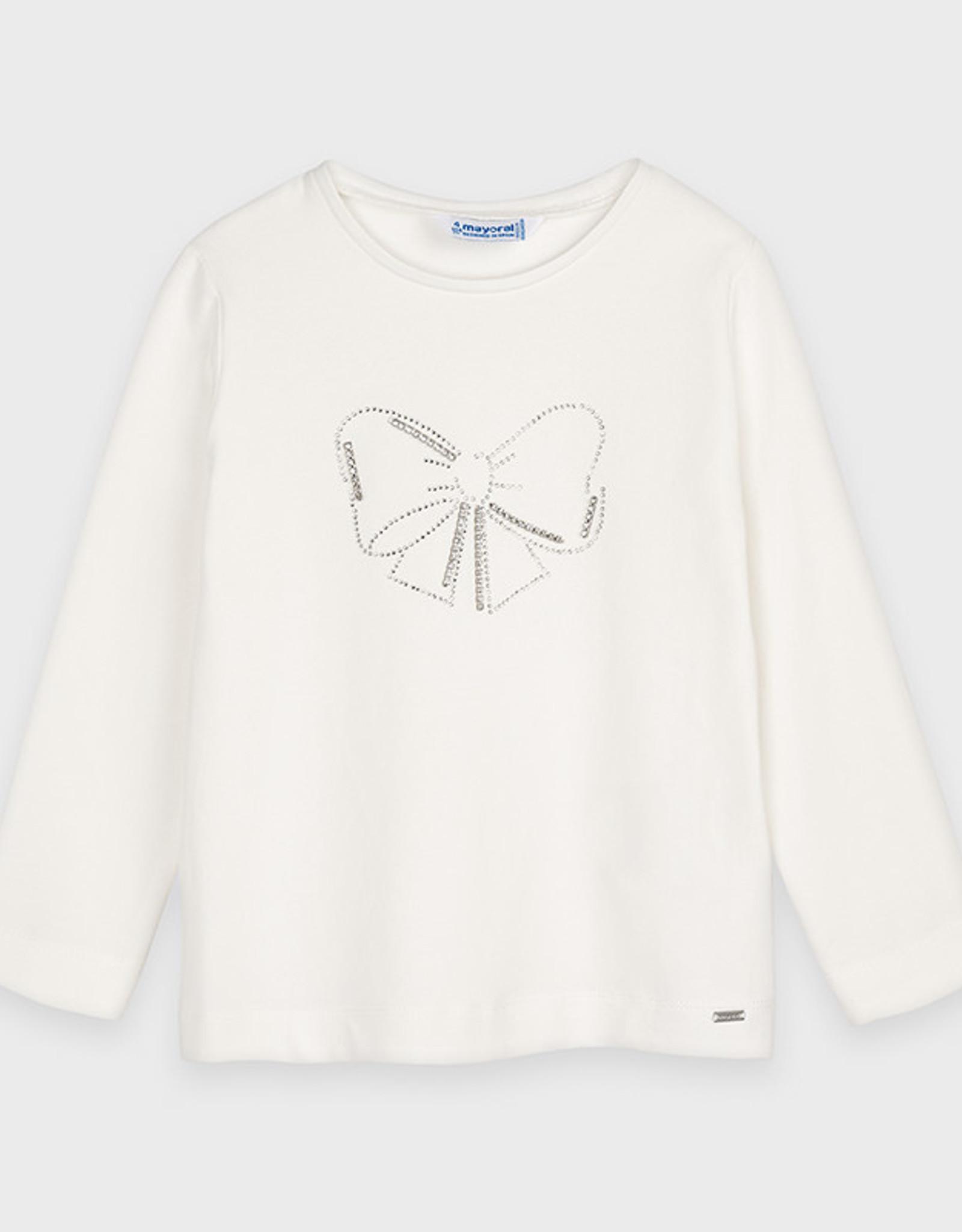 Mayoral Witte t-shirt met strik
