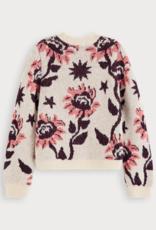 Scotch & Soda R'BELLE Gebreide trui met bloemenpatroon