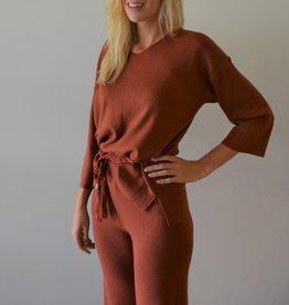 Dames Fashion Combi-set  trui en broek met brede pijpen