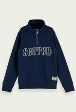 Scotch & Soda SHRUNK Donkerblauwe sweater Scotch