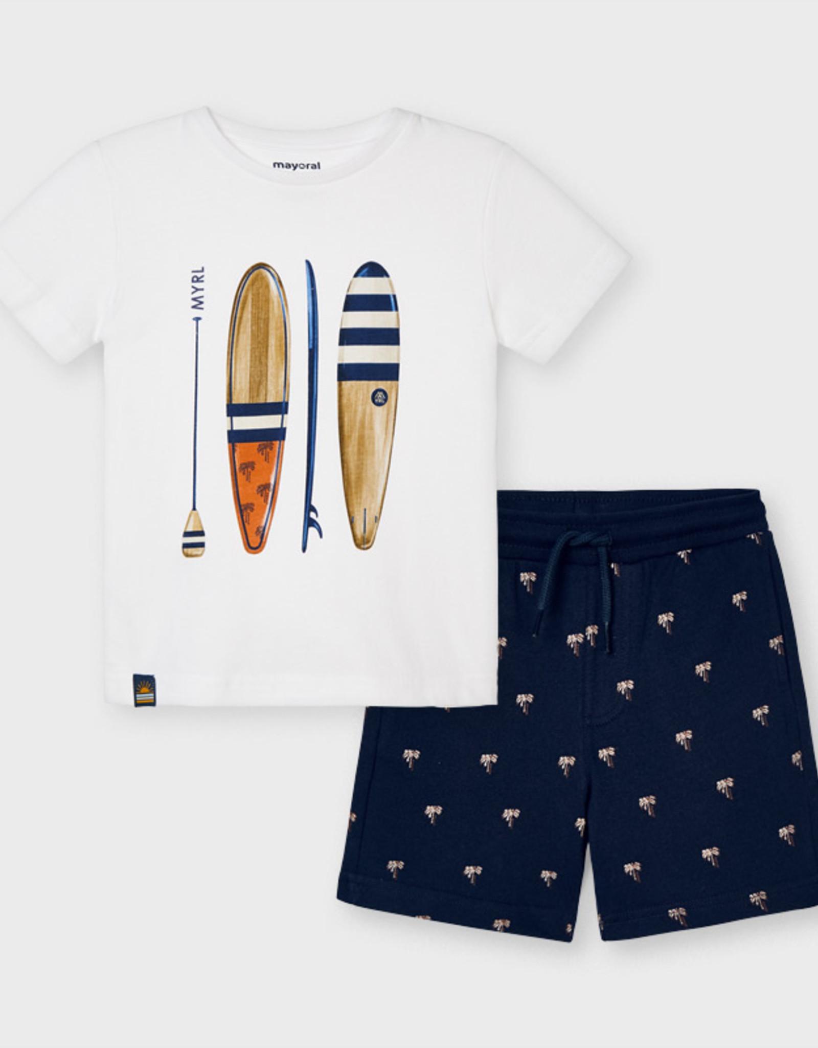 Mayoral Surf short en t-shirt (set)