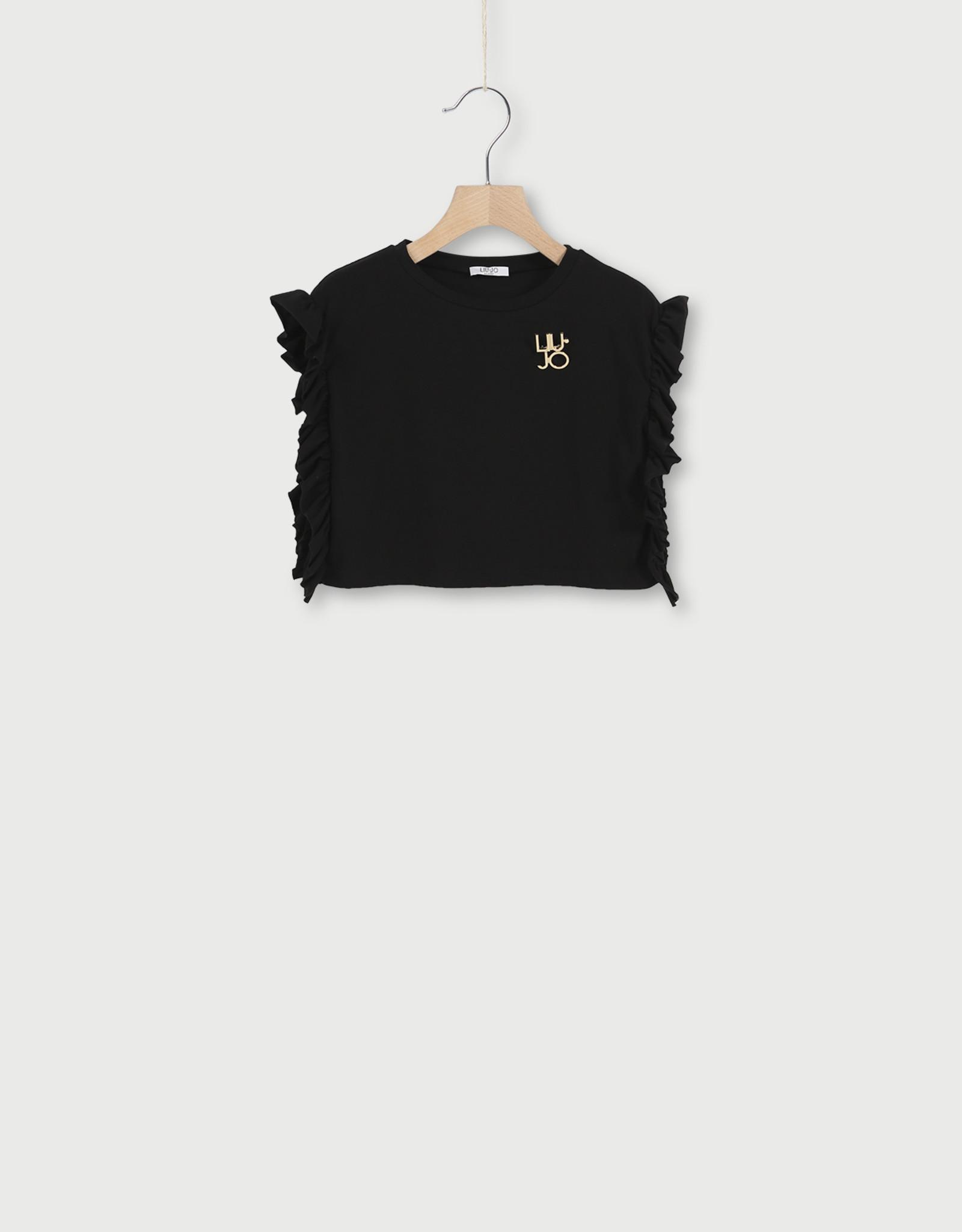 LIU JO Crop t-shirt met broche