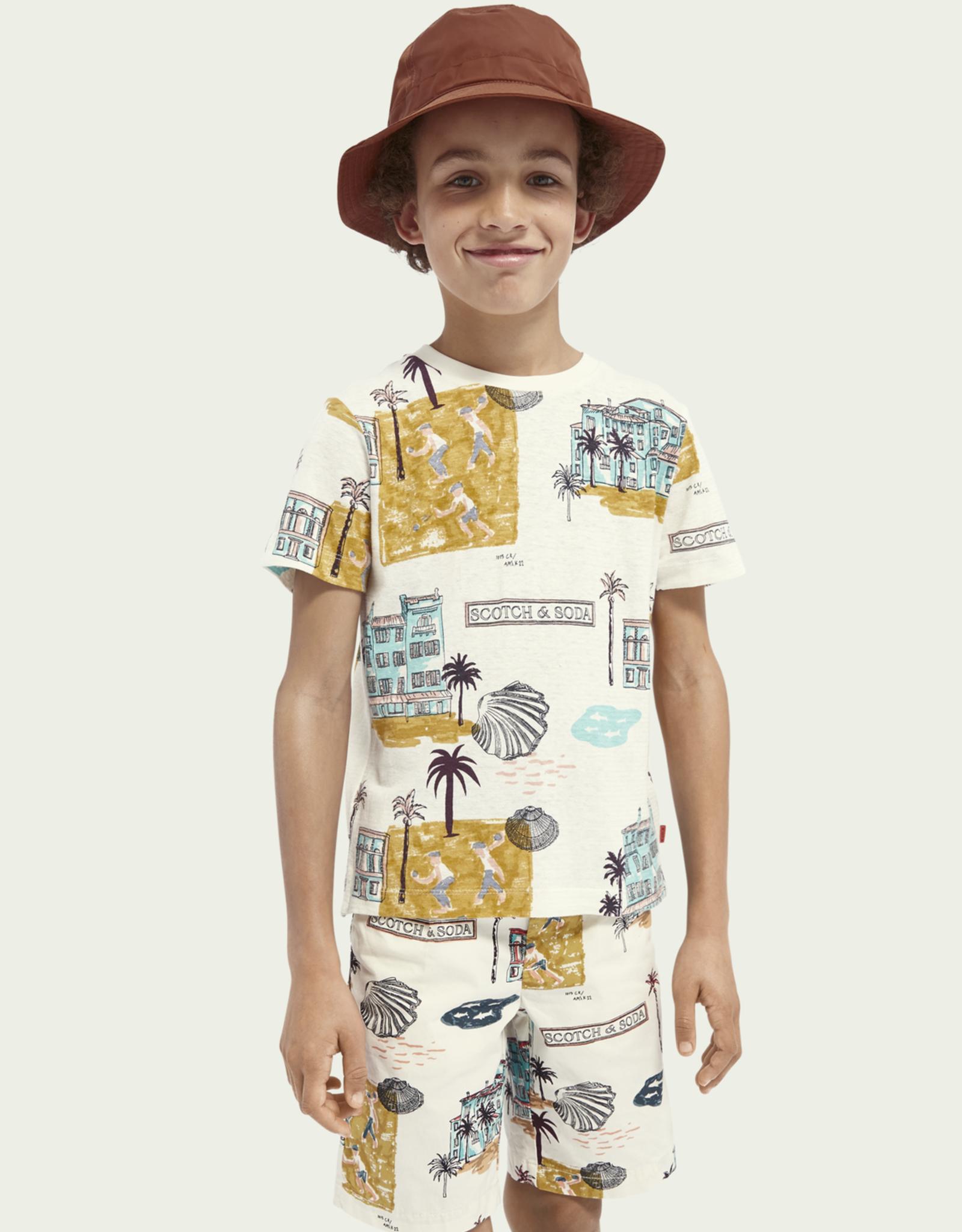Scotch & Soda SHRUNK T-shirt met zomerprint