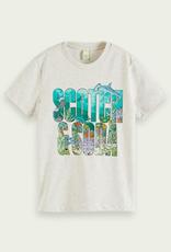 Scotch & Soda SHRUNK Grijze grafische t-shirt