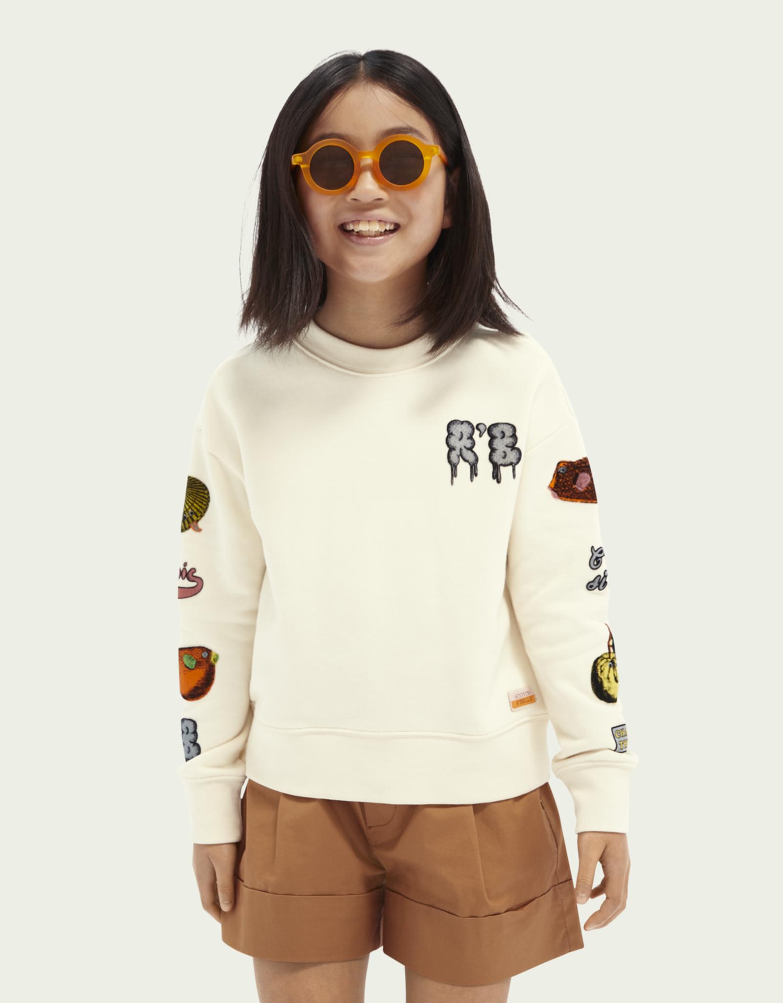 Scotch & Soda R'BELLE Sweater met artwork print