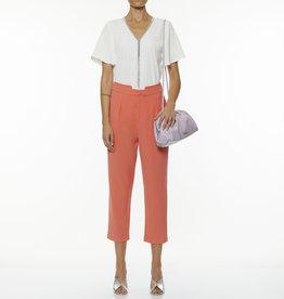 Dames Fashion Witte t-shirt met v-hals