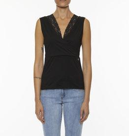 Dames Fashion Zwarte top met kant