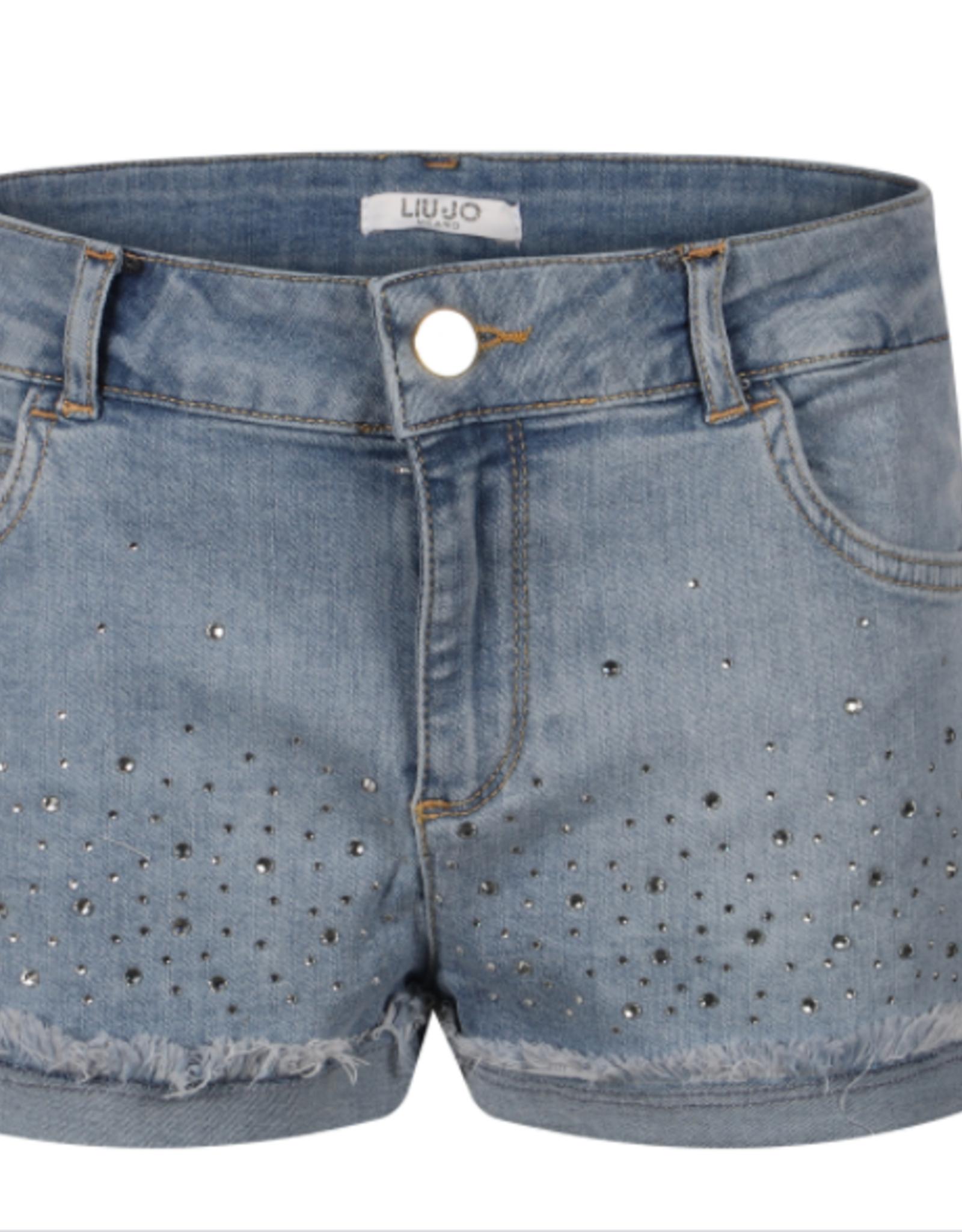 LIU JO Jeans short met strass steentjes