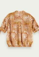 Scotch & Soda R'BELLE Boxy fit blouse met print