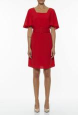 Dames Fashion Rode jurk met riem