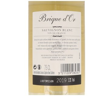 2019 Brique d'Or Sauvignon Blanc