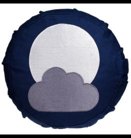 Meditatiekussen blauw met maan voor kinderen