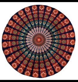 Mandaladoek blauw/rood/oranje