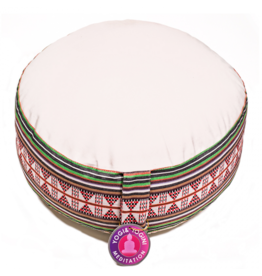 Meditatiekussen crème Tribal