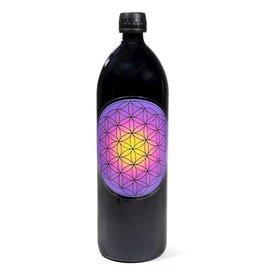Drinkfles met levensbloem violet