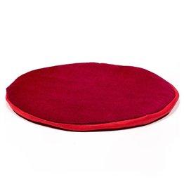 klankschaal kussen plat rond rood L