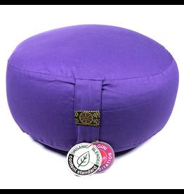 Meditatiekussen violet bio-katoen