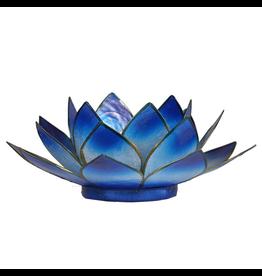 Lotus sfeerlicht blauw 2-kleurig  13,50 cm