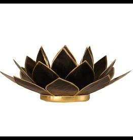 Lotus sfeerlicht zwart goudrand  13,50 cm