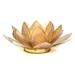 Lotus sfeerlicht gerookte goudrand