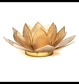 Lotus sfeerlicht smoked goudrand  13,50 cm