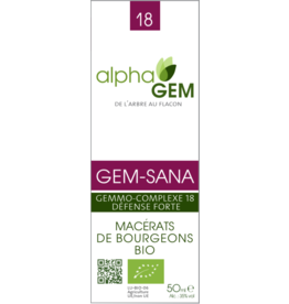 Gemmotherapie GEM-SANA BIO 50ml, alphaGEM