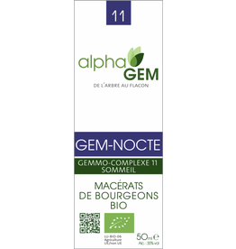 Gemmotherapie GEM-NOCTE BIO 50ml, alphaGEM