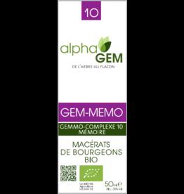 Gemmotherapie GEM-MEMO BIO 50ml, alphaGEM