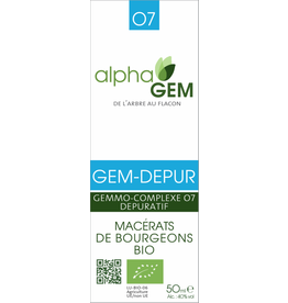 Gemmotherapie GEM-DEPUR BIO 50ml, alphaGEM