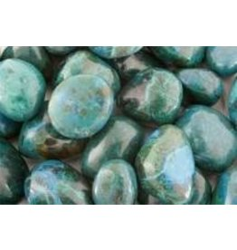 Chrysocolla medium trommelsteen