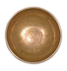 Klankschaal Ohm (gravering) 17cm