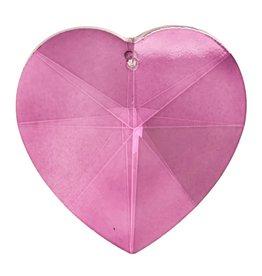 Regenboogkristal hartvorm roze