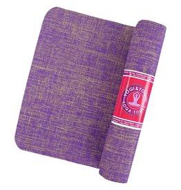 Yogi & Yogini yogamat jute violet 61x183x0.5cm