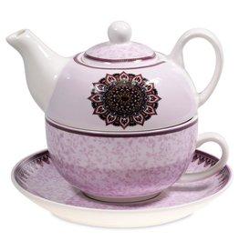 tea for one mandala paars