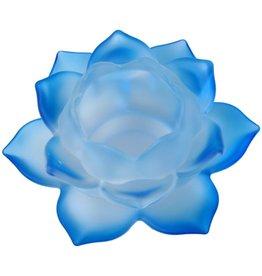 Lotus glas blauw sfeerlicht