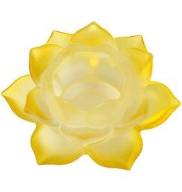 Lotus glas geel sfeerlicht