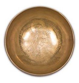 Klankschaal Witte Tara Boeddha 13cm