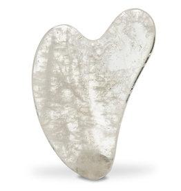 Gua sha massagesteen bergkristal 40g, 8cm