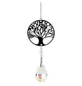 Kristaldruppel wit met levensboom