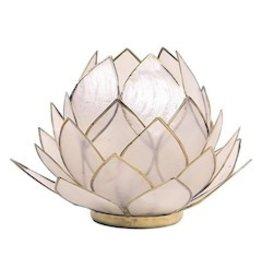 Lotus sfeerlicht naturel groot  15 x 15 cm