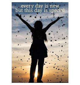 Elke dag is nieuwe wenskaart
