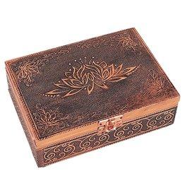 Tarot of sieraden doos lotus koperkleur