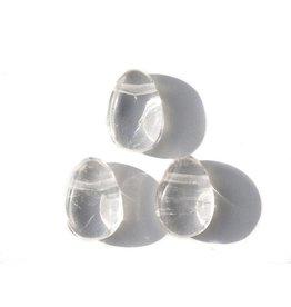 Bergkristal eivorm hanger - doorboord