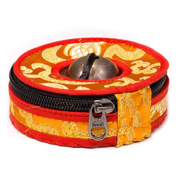 Hoesje voor Tingsha's oranje/rood Large